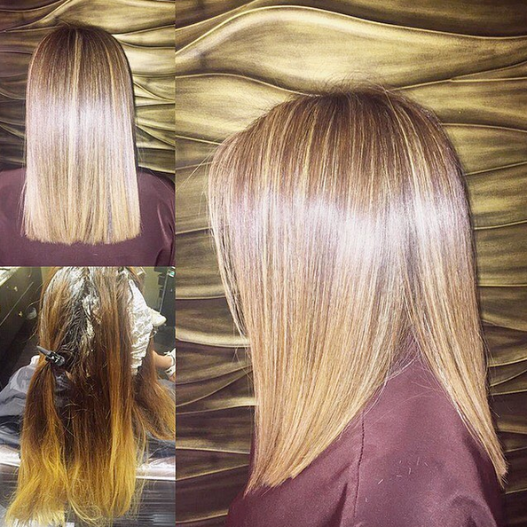 Keratin Treatment (and color correction and trim) by Ji Cha, Karma by Erwin Gomez